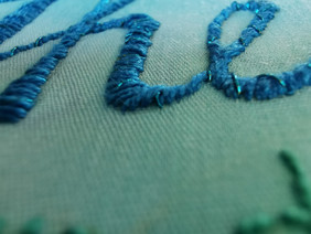 Stitched name