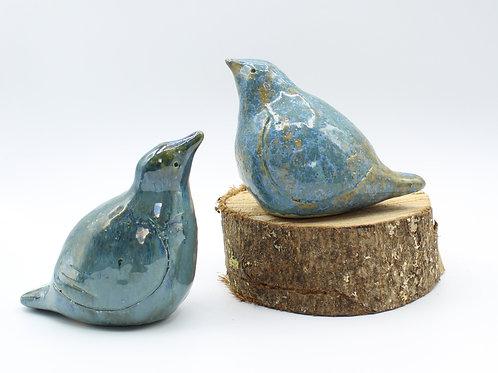 Love Birds Pale Denim - Ceramic