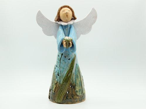 Cluain/ Meadow Angel (with Flowers)- Ceramic