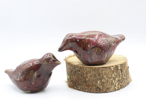 Love Birds Garnet  - Ceramic