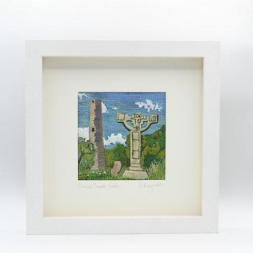 Round Tower Kells-Textile Art