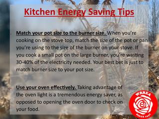 Kitchen Energy Saving Tips