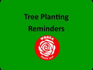 Tree Planting Reminders