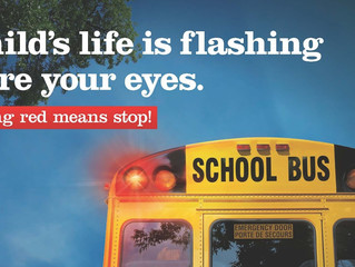 Flashing RED means STOP AHEAD!