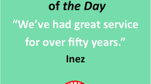 Member Quote of the Day!