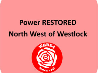Power Outage RESTORED- North West of Westlock