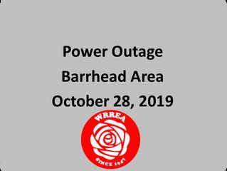 Transmission Line Power Outage: Barrhead Area
