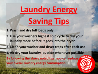 Laundry Energy Saving Tips