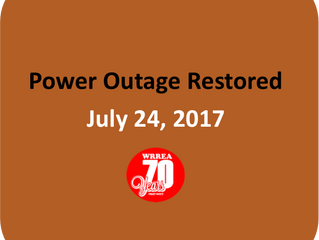 Power Outage- RESTORED