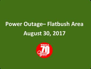 Power Outage- Flatbush Area