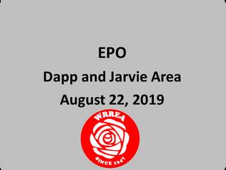 EPO August 22, 2019: Dapp & Jarvie Area