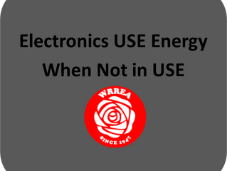 Electronics USE Energy When Not In USE