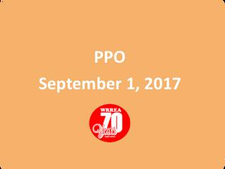 PPO September 1, 2017