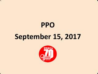 PPO September 15, 2017