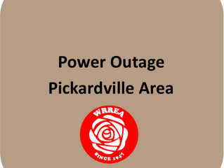 July 31, 2019 Power Outage Pickardville Area