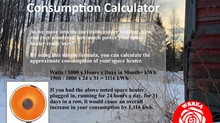 Space Heater Consumption Calculator