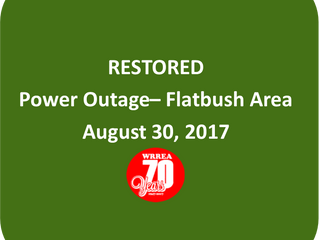 Power Outage- Flatbush Area- RESTORED