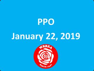 PPO January 22, 2019
