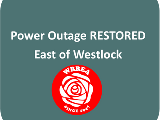 Power Outage RESTORED- East of Westlock