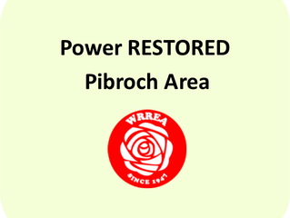 Power RESTORED- Pibroch Area