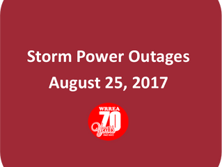 Storm Power Outages- August 25, 2017