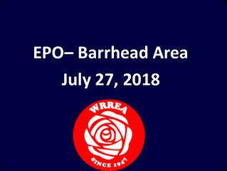 EPO July 27, 2018 Barrhead Area