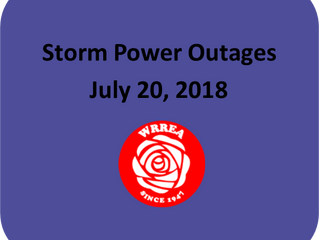 Storm Power Outages- July 20, 2018
