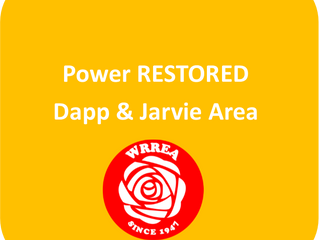 Power RESTORED- Dapp & Jarvie Area
