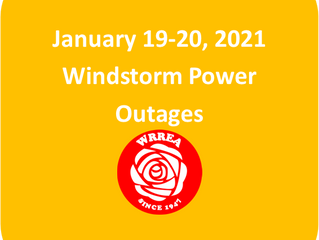 January 19-20 Windstorm Power Outages