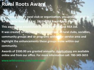 WRREA Rural Roots Award