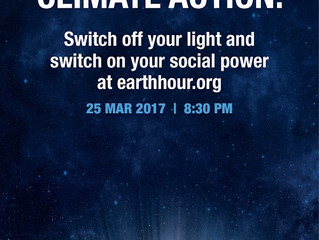 Earth Hour! March 25, 2017