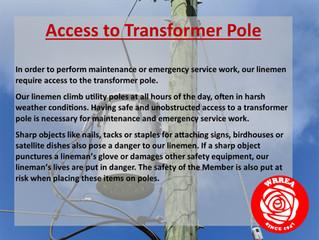 Access to Transformer Pole