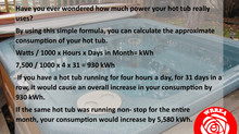 Hot Tub Consumption Calculator