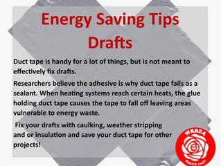 Energy Saving Tips- Drafts