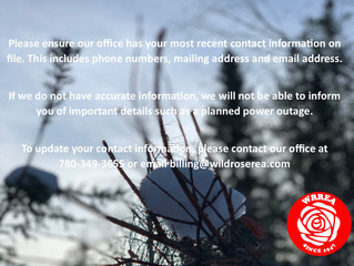 Updated Contact Information
