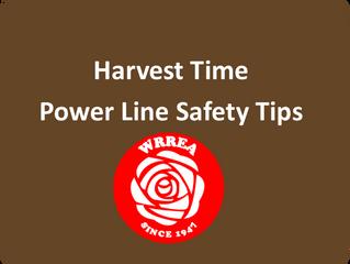 Harvest Time- Power Line Safety Tips