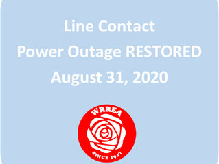 Line Contact Power Outage Restored: Fawcett Area