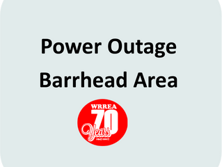 Power Outage- Barrhead Area