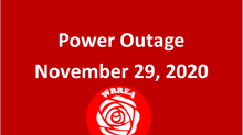 Power Outage Restored: November 29, 2020