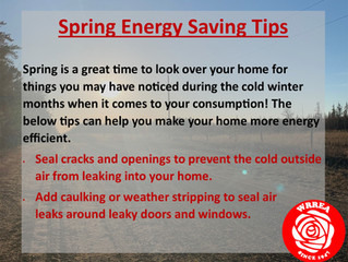 Spring Energy Saving Tips