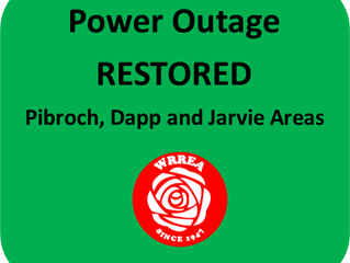 Power Outage RESTORED: Pibroch, Dapp and Jarvie Areas
