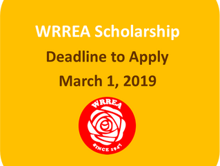 WRREA Scholarship: Deadline to Apply- March 1, 2019