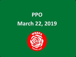 PPO- March 22, 2019