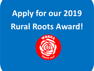 Apply for our 2019 Rural Roots Award!