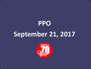 PPO September 21, 2017