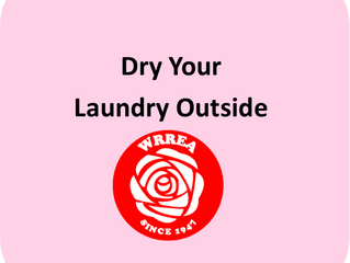 Energy Saving Tips- Dry Your Laundry Outside!