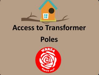 Access to Transformer Poles