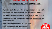 WRREA Rural Roots Award: Last Day to Apply!