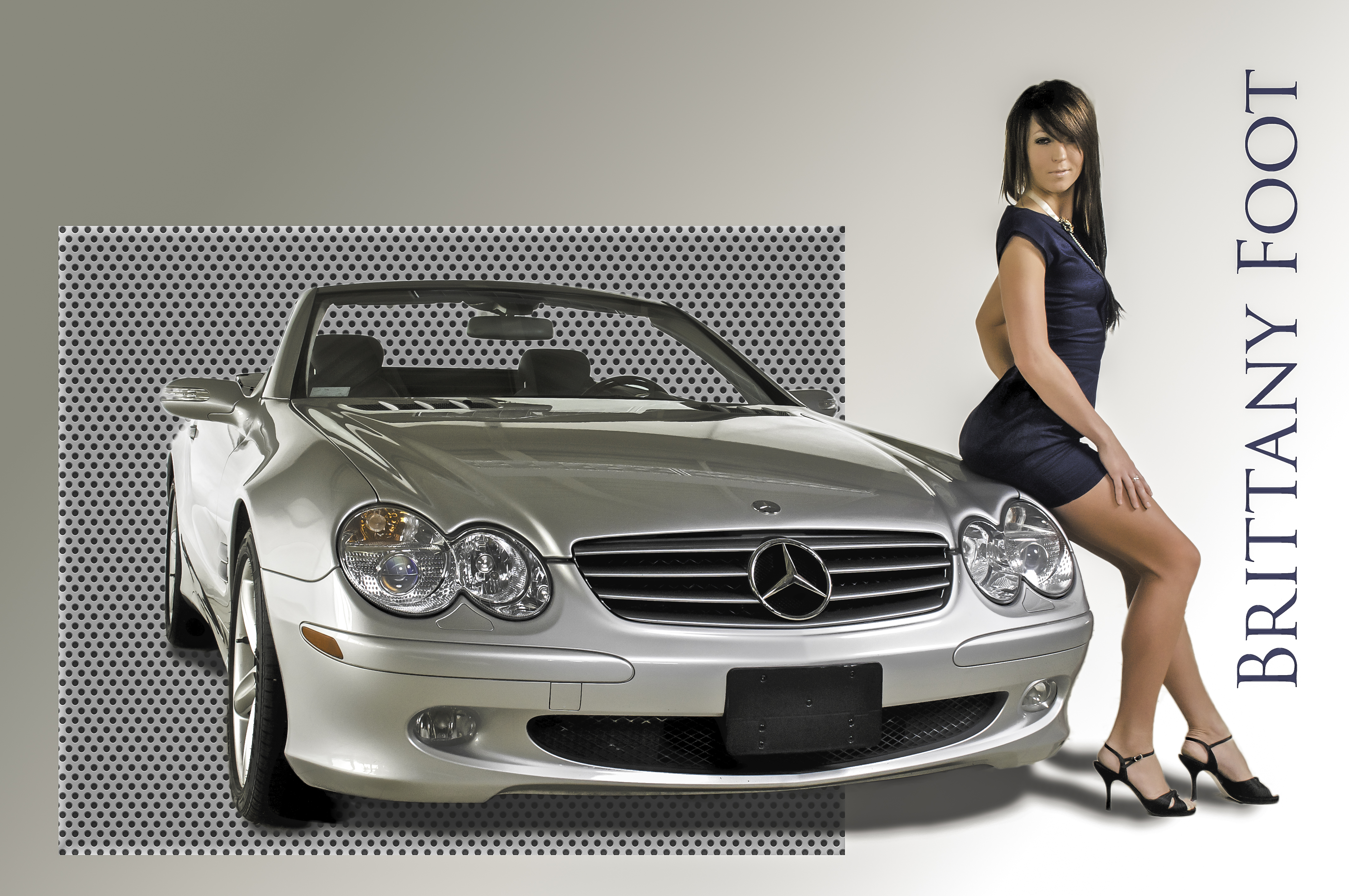 Model With Car-