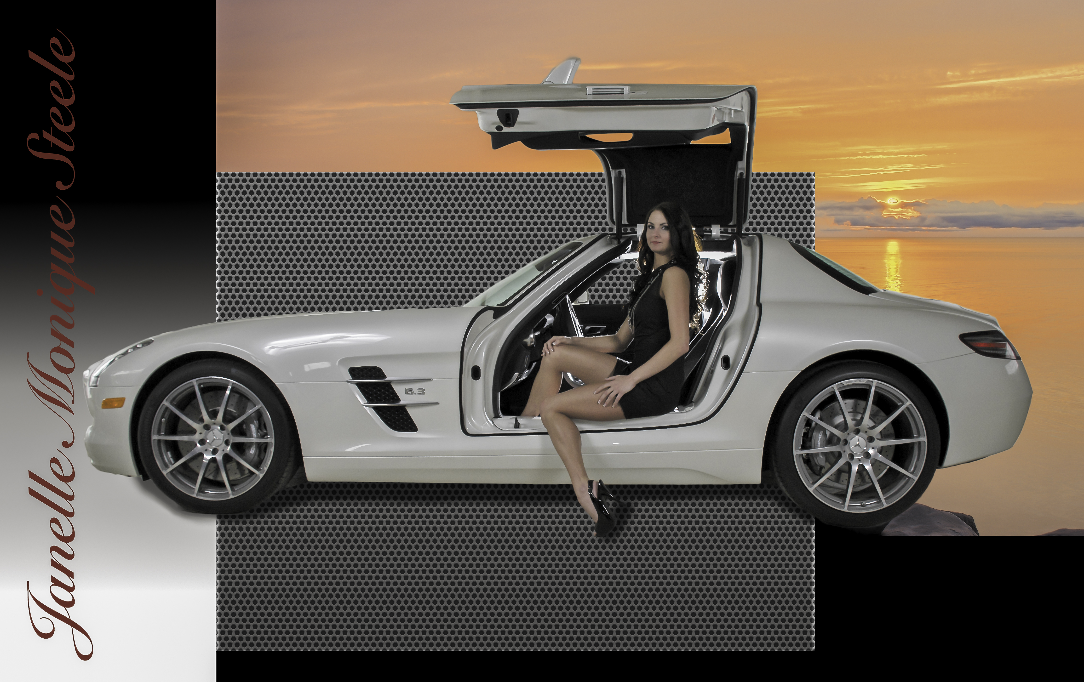 Model With Car-6149